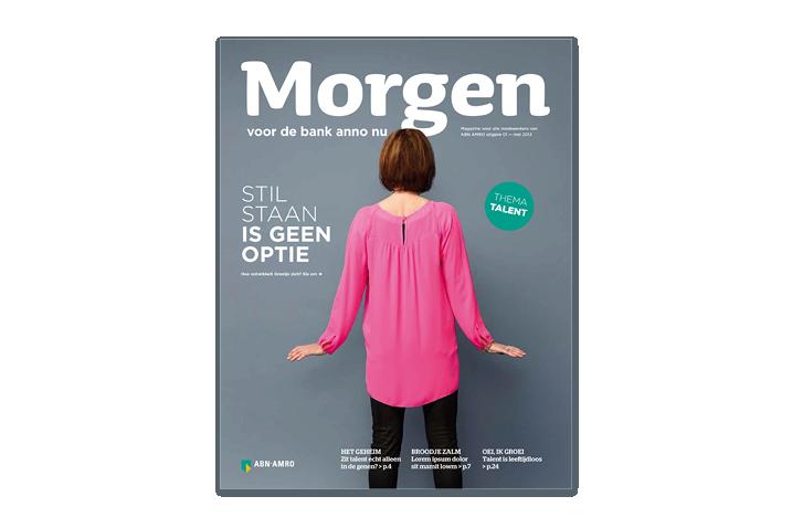 ABN Amro intern magazine Morgen